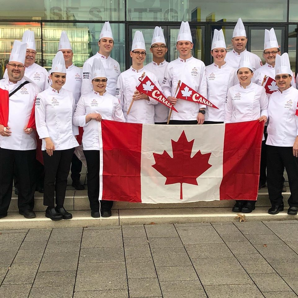 Youth Culinary Team Canada pose with their gold medals at the IKA Culinary Olympics in Stuttgart, Germany.