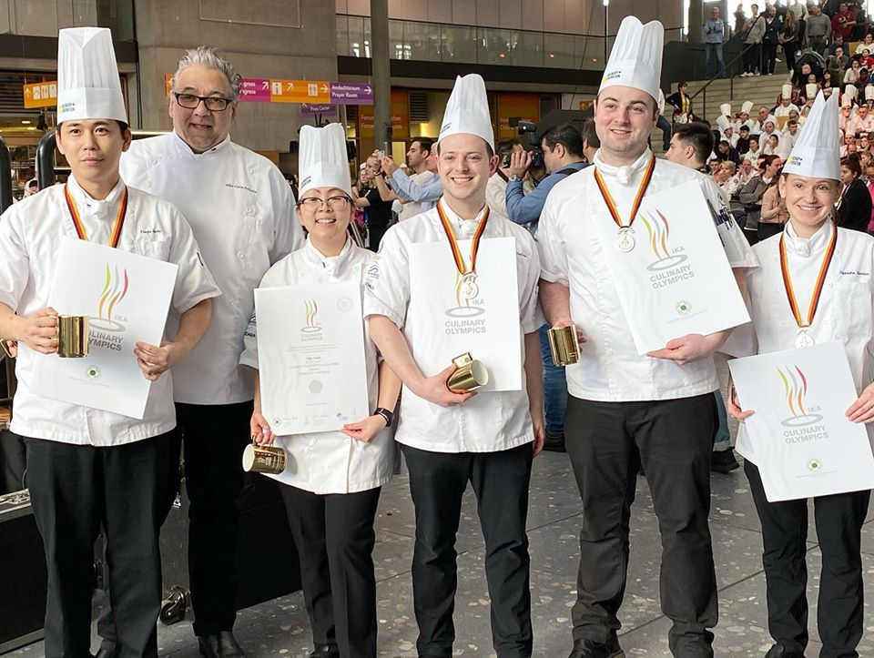 Culinary Team BC pose with their silver medals at the IKA Culinary Olympics in Stuttgart, Germany.