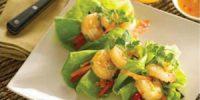 Butter Lettuce Orange Shrimp Wraps