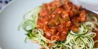 Veggie noodles help create a fresh,light meal