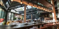 The first Landing Group restaurant with an OpenAire retractable roof in downtown Toronto
