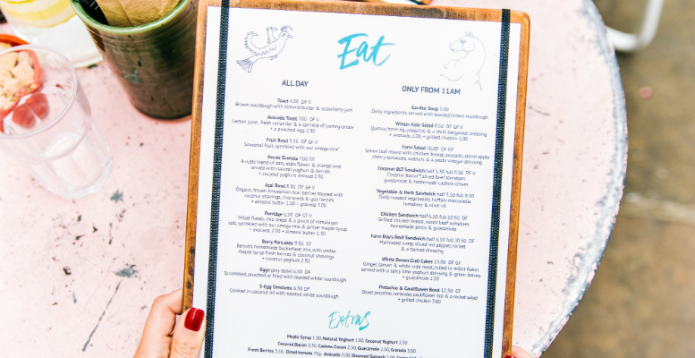 Six things to remember when designing a new menu