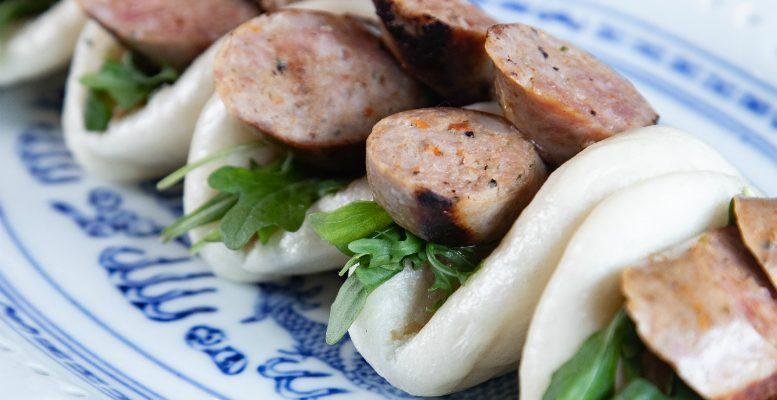 Recipe Club: Brazilian BBQ-spiced pork sausage bao with mustard