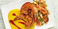 Recipe Club: Shrimp with Roasted Corn Puree and Farro Salad