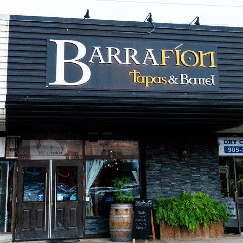 Barra Fion, seen from the outside, is a Burlington tapas restaurant that has pivoted to delivery and takeout only.